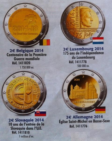 Pièces 2€ commémoratives 2014