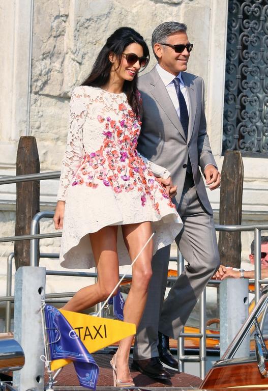 george clooney mariage robe
