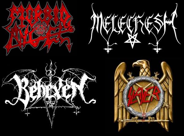 Logos de groupes de metal avec un pentacle