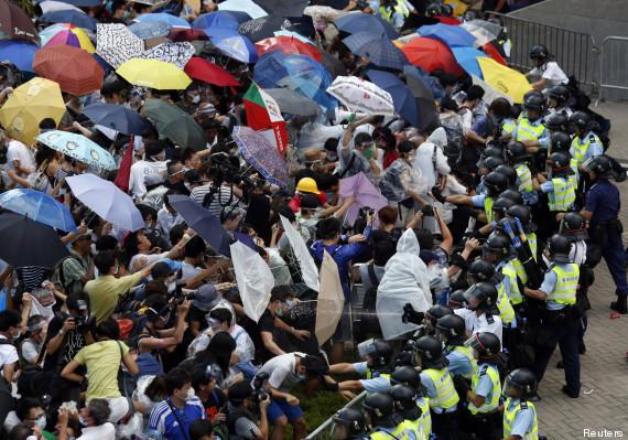 Actualités octobre 2014 Manifestations à Hongkong contre le gouvernement