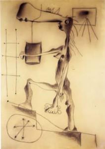 Miro - Femme nue montant l'escalier