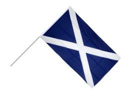 Le drapeau de l'Écosse.