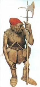 Gobelin au chapeau rougit par le sang de ses victimes.