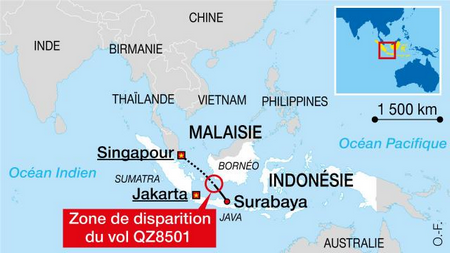Un avion disparaît entre l'Indonésie et Singapour