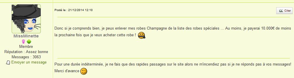 confusion robe champagne