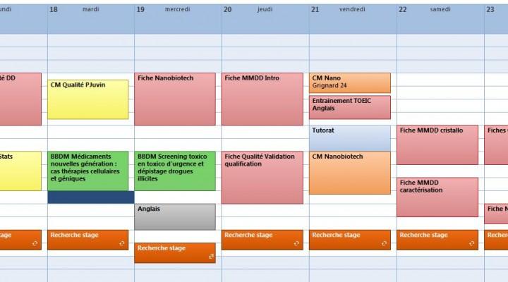 Réaliser et suivre un planning de travail