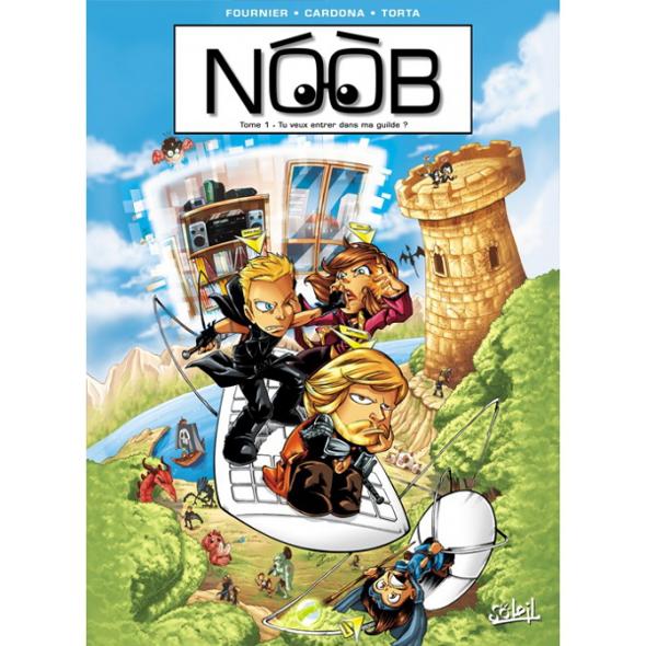 Couverture du premier tome de la BD Noob