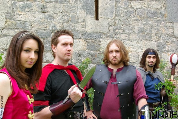 Les personnages de la guilde Noob