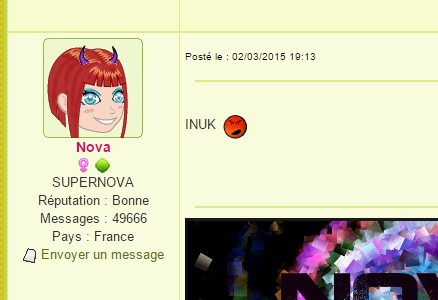 Screen Nova pas contente