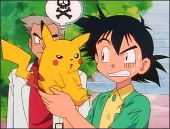 Pikachu et Sacha faisant connaissance