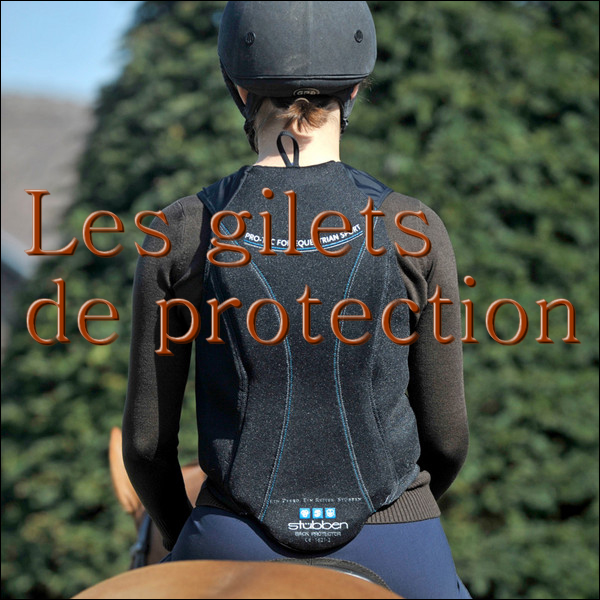 Les gilets de protection d'équitation