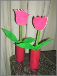 fleurs en papier pour la fête des mères
