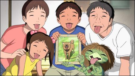 La famille Uehara dan l'anime Un été avec Coo