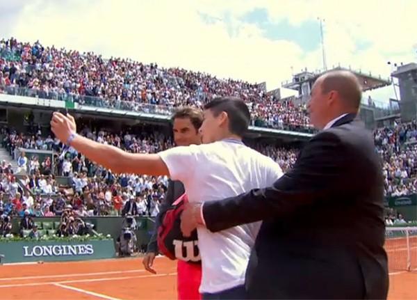 Roland Garros 2015 selfie Federer