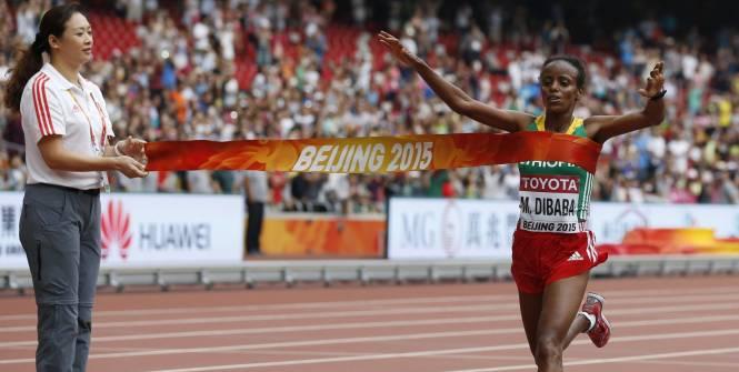 championne du monde marathon 2015