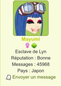 Mayumi fait joujou avec les couleurs