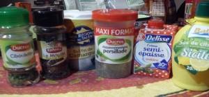 Fajitas ingrédients sauce