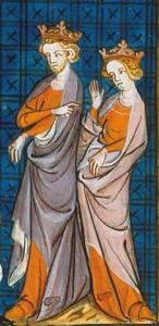 Aliénor d'Aquitaine et d'Henri Plantagenêt