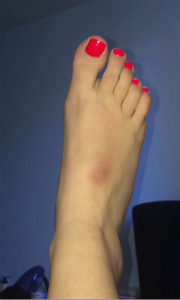 bleu pied