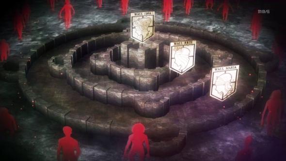 Murs présent dans L'attaque des titans
