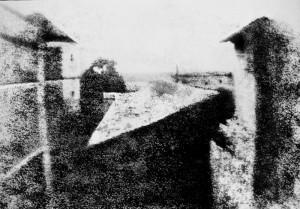 La cour du domaine du Gras (ou Point de vue du Gras) de Nicéphore Niépce