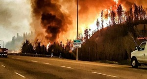 Un très gros incendie au Canada