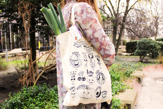 tote bag fruits et légumes