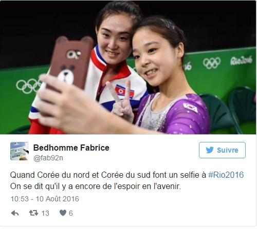 Selfie gymnastes coréennes JO Rio 2016