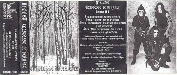 Pochette de Tristesse hivernale d'Alcest