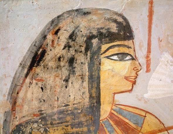 Femme d'Egypte antique maquilée
