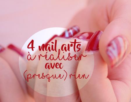 4 nail arts à réaliser facilement avec (presque) rien