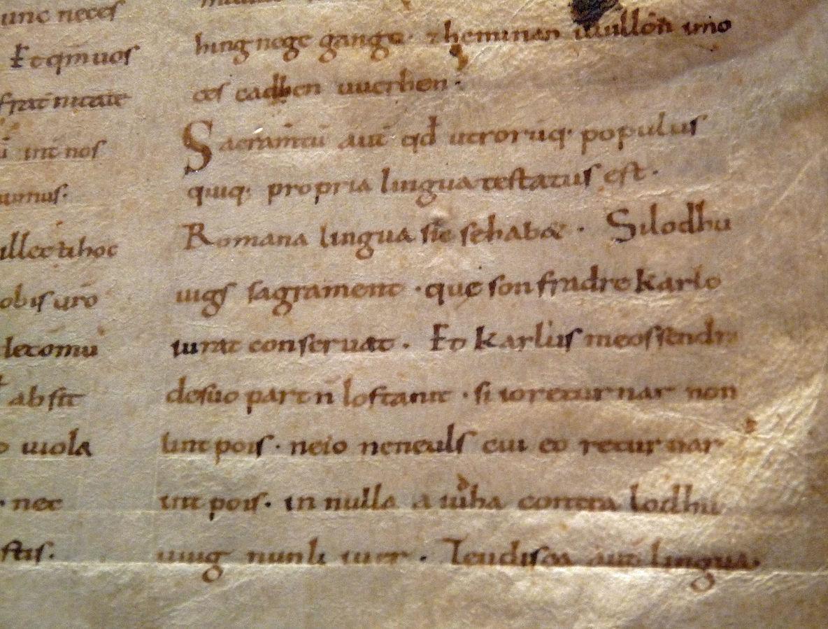 Extrait des serments de Strasbourg