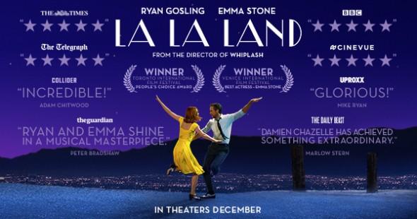 Affiche du film La La Land avec la liste de ses distinctions