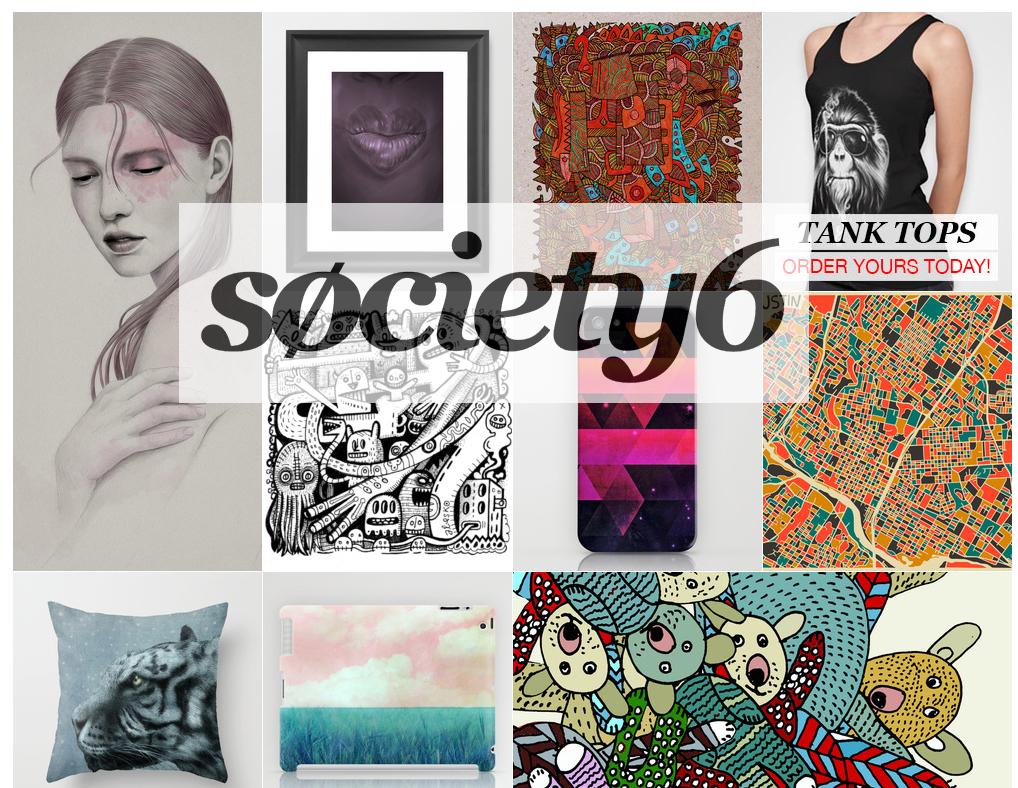 Produits vendus par Society6