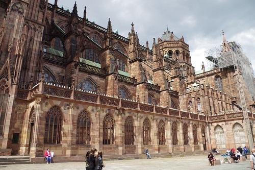 Arcs-boutants, cathédrale de Strasbourg