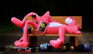 Panthère rose ivre