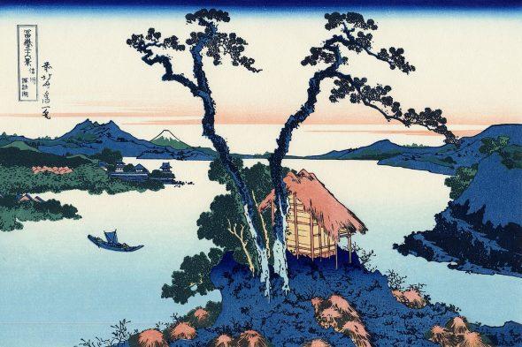 Le Lac Suwa dans la province de Shinano