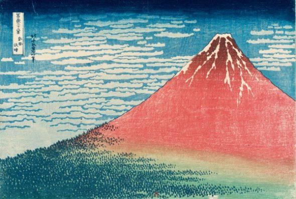 Le Fuji par temps clair (aussi appelé Fuji Rouge)