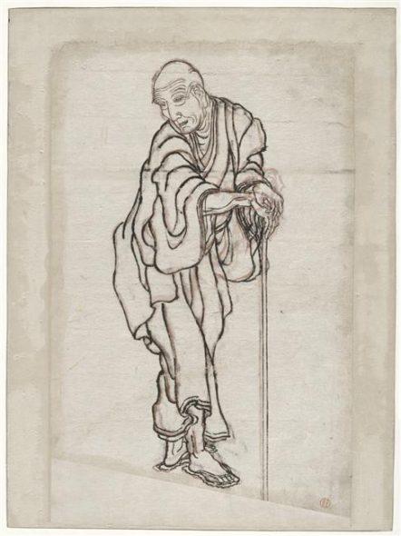 Portrait d'hokusai par lui-même