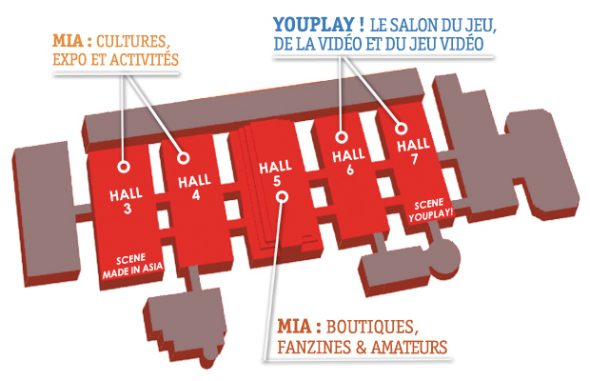 Plan des palais du heizel
