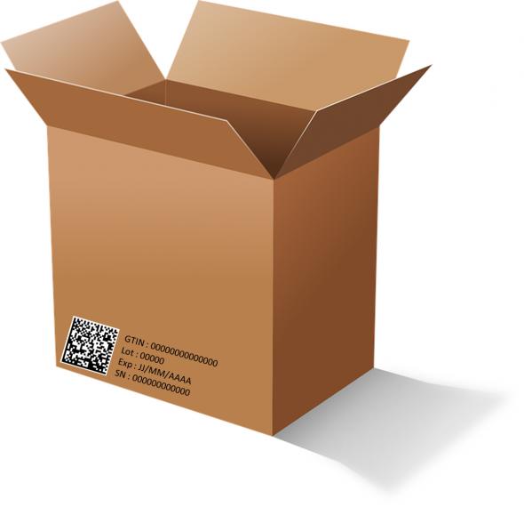 Boîte de médicament contenant la sérialisation