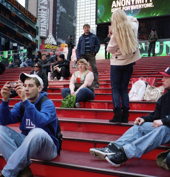 Haley Morris Cafiero à Times Square