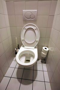 toilettes à fond plat