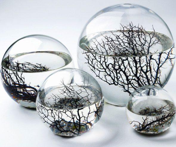 EcoSpheres de différentes tailles et formes