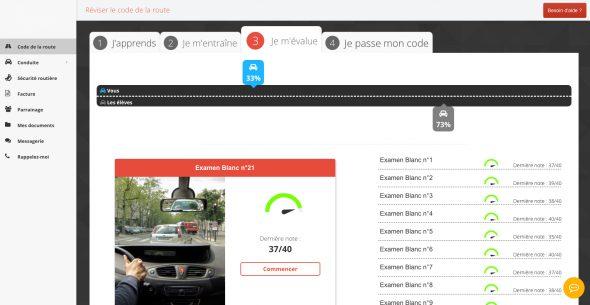 Espace en ligne auto-école.net