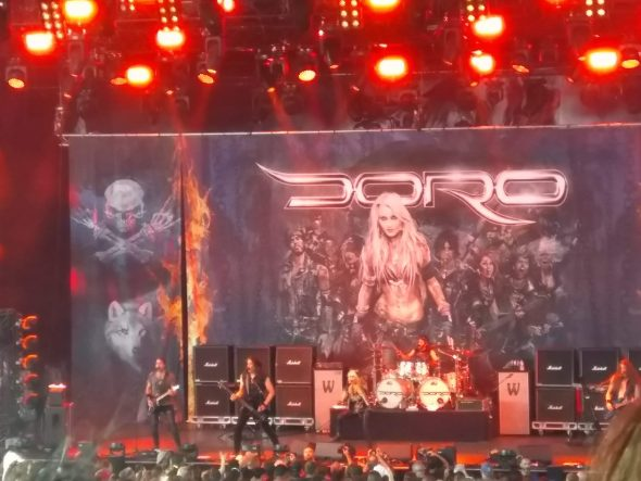 Concert de Doro à la Hard Rock Session 2018