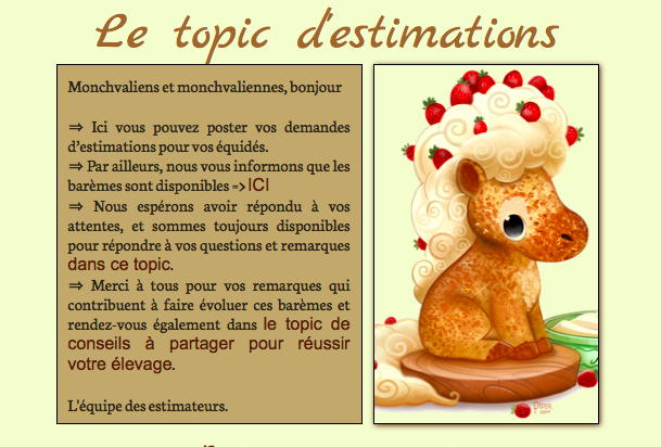 Topic d'estimation