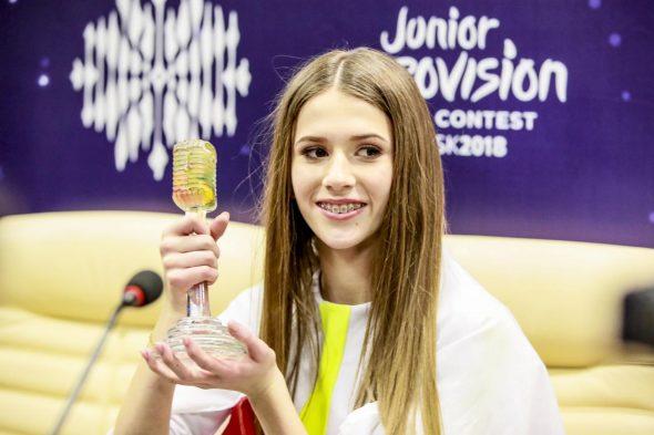Roksana Węgiel gagne l'Eurovision Junior pour la Pologne