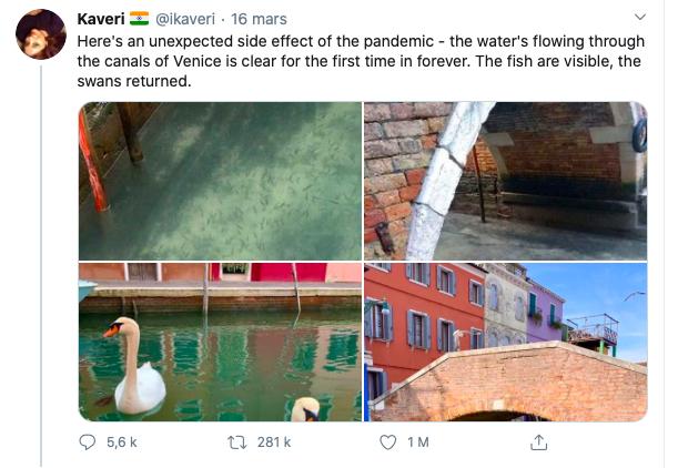 Le nouveau Venise du confinement