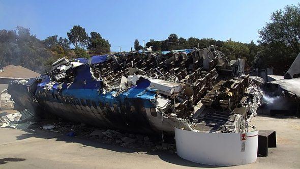 Décor de crash d'avion
